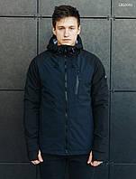 Мужская молодежная осенняя куртка стаф /Чоловіча осіння куртка Staff soft shell Solar navy and black LBL0060
