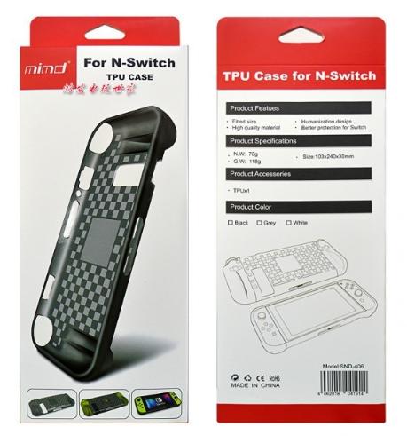 Силиконовый оригинал чехол MIMD с ручками для Nintendo Switch  / Стекла / Пленки /