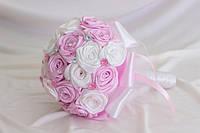 Свадебный Брошь-букет Бело-розовый
