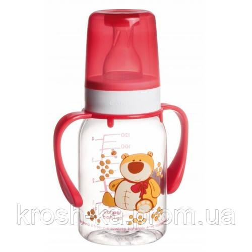 Бутылочка для кормления с ручками  с рисунком Canpol Babies Польша пластик 11/823