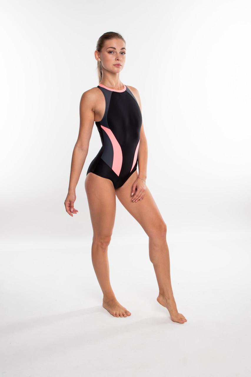 Закрытый женский купальник спортивный Aqua Speed Nina (original), цельный, слитный, для бассейна SportLavka