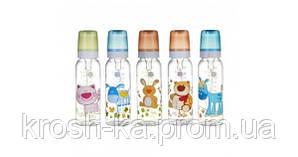 Бутылочка для кормления Весёлые зверята 250 мл Canpol Babies Польша пластик 11\841