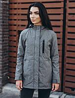 Женская осенняя серая куртка стафф/ Жіноча демісезонна куртка Staff vint gray BZP0057