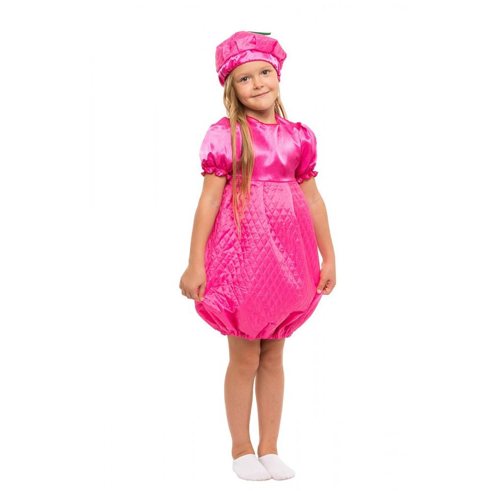 Розовый детский маскарадный костюм Малинки для девочки