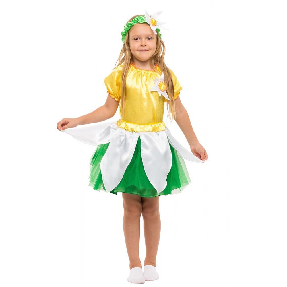 Детский карнавальный костюм Нарцисса для девочки