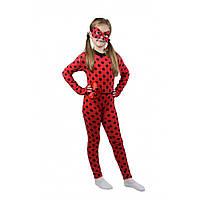 Детский карнавальный костюм Леди Баг красный в черный горошек