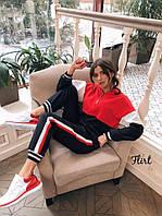 Женский модный спортивный костюм р.42,44 оригинал цвет красный.