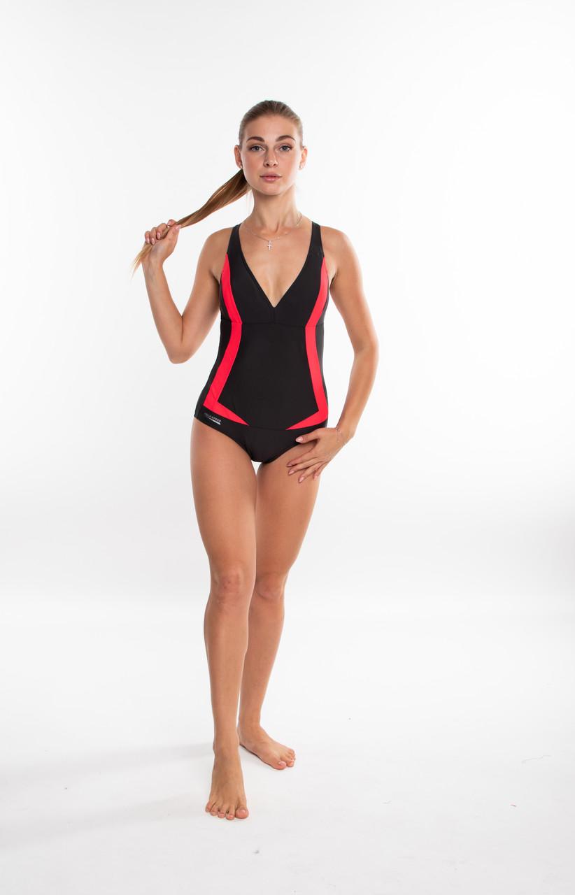Закрытый женский купальник Aqua Speed Greta (original), цельный, слитный, для бассейна, для пляжа SportLavka
