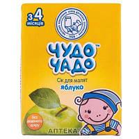 Сок для немовлят яблоко без сахара 200гр Чудо-Чадо Украина