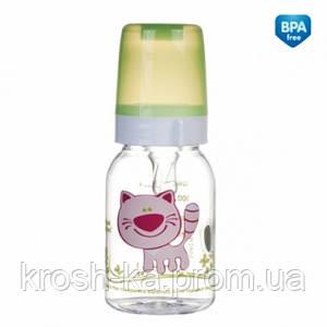 Бутылочка для кормления Ферма120мл Canpol Babies Польша розовый пластик 11/851