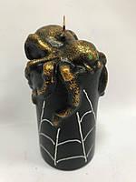 Парафиновая свеча Паук с паутиной 11*5 см