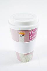 Кофейная кружка to go becher 350ml bambus Lama Qeen