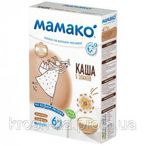 Каша молочная 5 злаков на козьем молоке 6м+ 200г Мамако 1105402