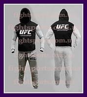 """Мужской Спортивный костюм UFC BLACK-GRAY """"В стиле"""""""