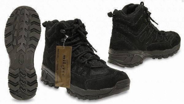 Ботинки mil-tec squad boots 5 inch black, фото 2