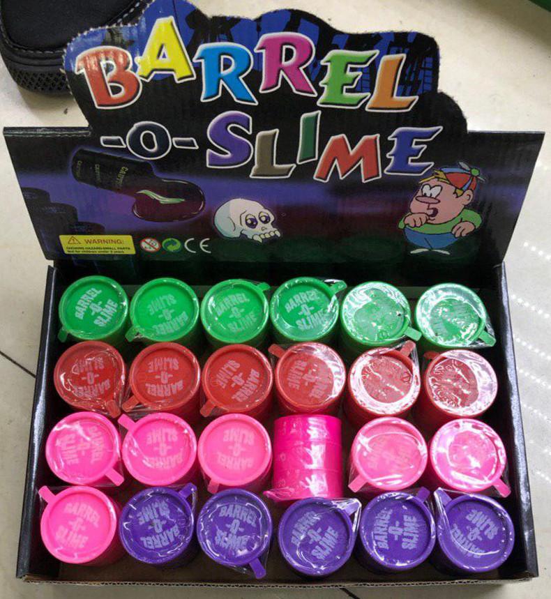 Жвачка для рук 3 цвета | Сопли бочонок Barrel-o-Slime