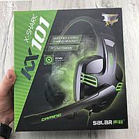 Игровые наушники с микрофоном salar x-shark kx101 геймерские проводные для компьютера и ноутбука