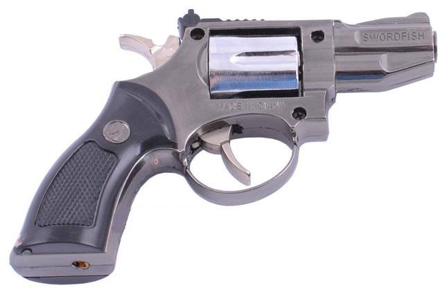 Зажигалка сувенирная Пистолет в кобуре Револьвер Мини (Турбо пламя), фото 2