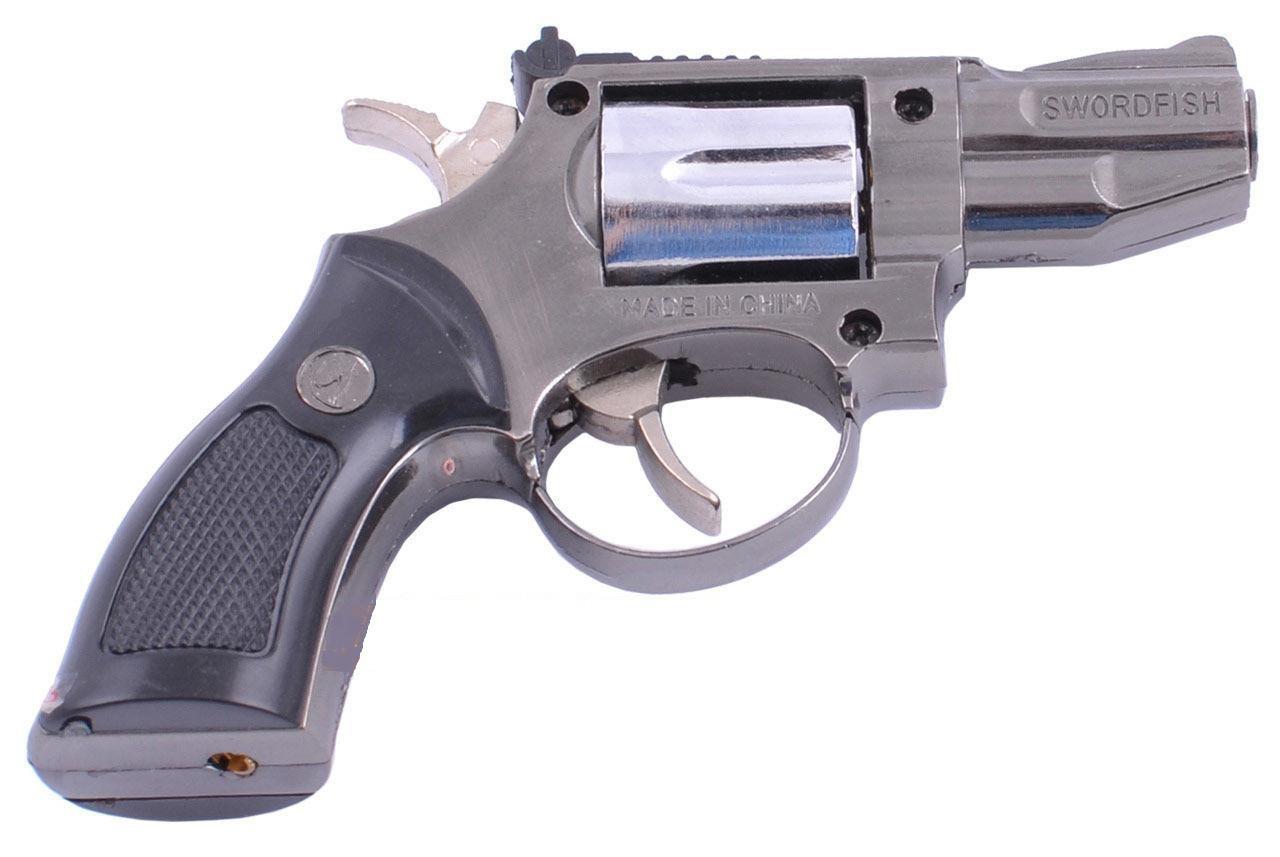 Зажигалка сувенирная Пистолет в кобуре Револьвер Мини (Турбо пламя)