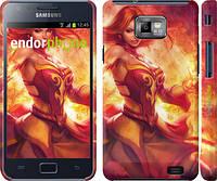 "Чехол на Samsung Galaxy S2 Plus i9105 Dota 2. Lina 2 ""988c-71"""