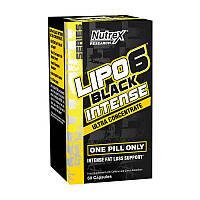 Жиросжигатель Nutrex Lipo 6 Black Intense Ultra Concentrate 60 caps Липо 6 для сушки и похудения