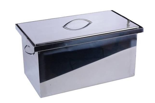 Коптильня с гидрозатвором 2 уровня и поддон; 520 х 310 х 280 нержавейка 1,5 мм. оригинал, фото 2