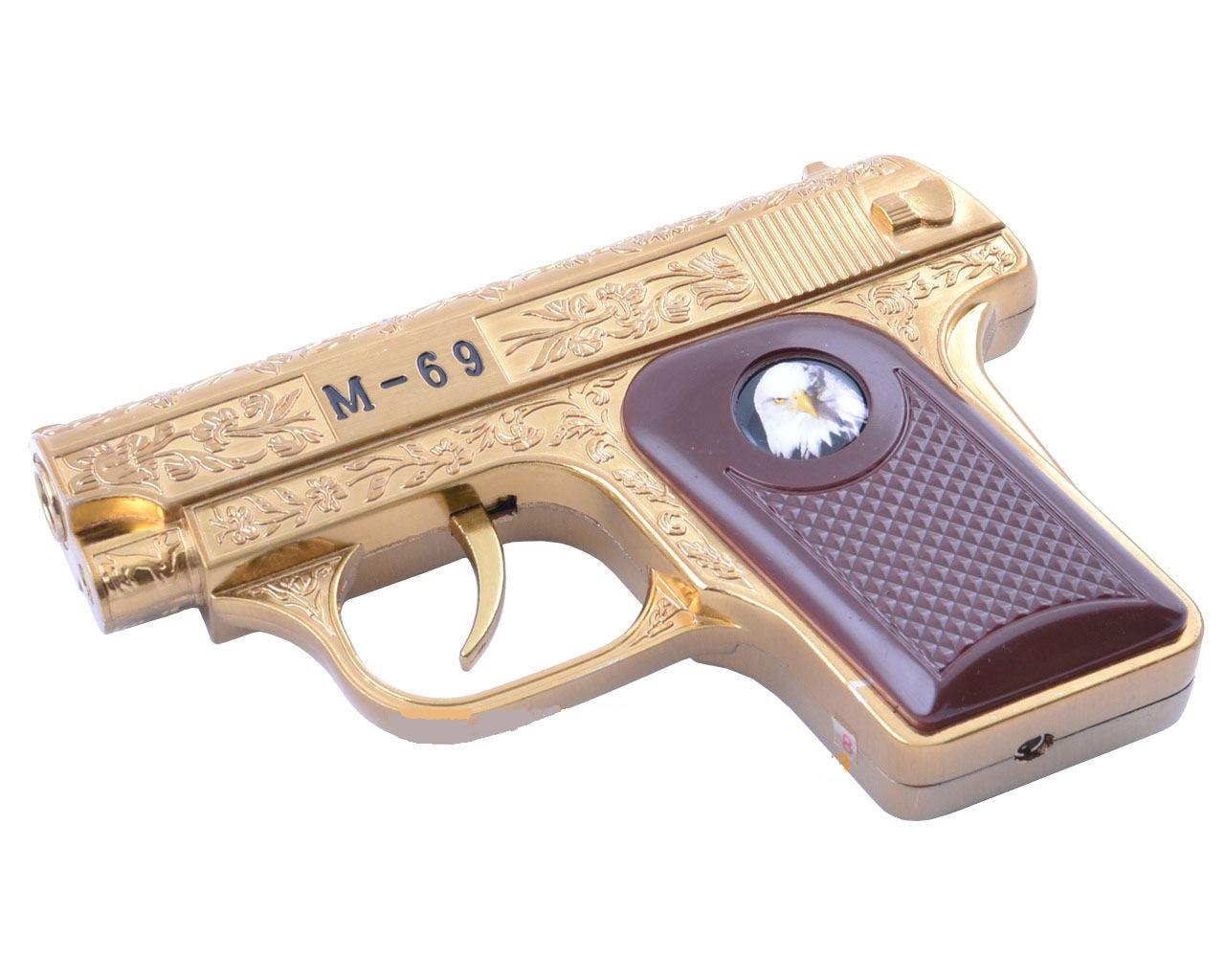 Зажигалка сувенирная Пистолет M-69 (Турбо пламя) подарок мужу