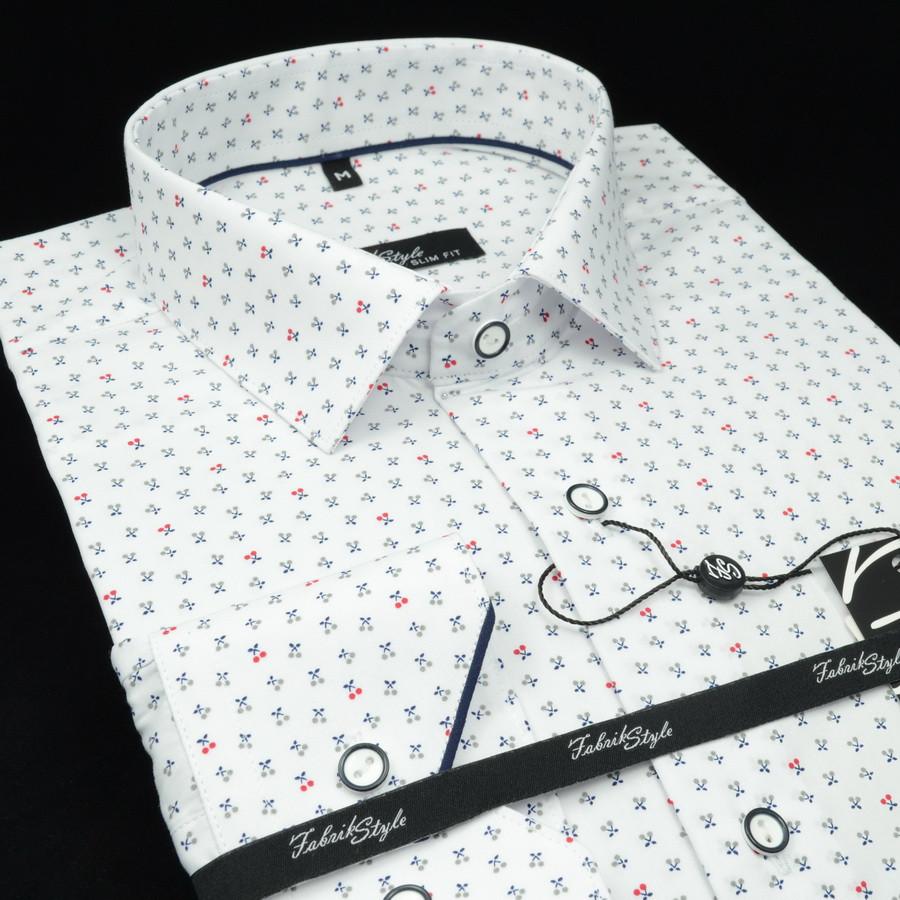 Сорочка чоловіча, приталена (Slim Fit), з довгим рукавом Fabrik Style T3122V5 100% бавовна M(Р)