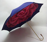 "Зонт жіночий ""Camelia"" з пурпурним принтом"