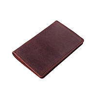 Обложка для документов, портмоне для документов Comfy Strap натуральная кожа + блокнот (светло коричневый)