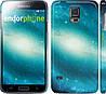"Чехол на Samsung Galaxy S5 Duos SM G900FD Голубая галактика ""177c-62"""