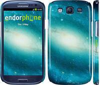 "Чехол на Samsung Galaxy S3 Duos I9300i Голубая галактика ""177c-50"""