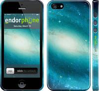 "Чехол на iPhone 5 Голубая галактика ""177c-18"""