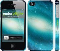 """Чехол на iPhone 4s Голубая галактика """"177c-12"""""""