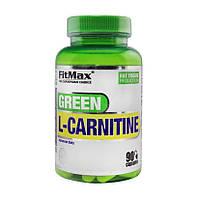 Л-карнитин FitMax Green L-Carnitine 90 caps л-карнитин для похудения, жиросжигатель