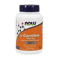 Л-карнитин NOW L-Carnitine 1000 mg 50 tabs л-карнитин для похудения, жиросжигатель