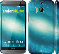 "Чехол на HTC One M8 dual sim Голубая галактика ""177c-55"""