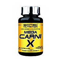 Л-карнитин Scitec Nutrition Mega Carni-x 1000 mg 60 caps л-карнитин для похудения, жиросжигатель