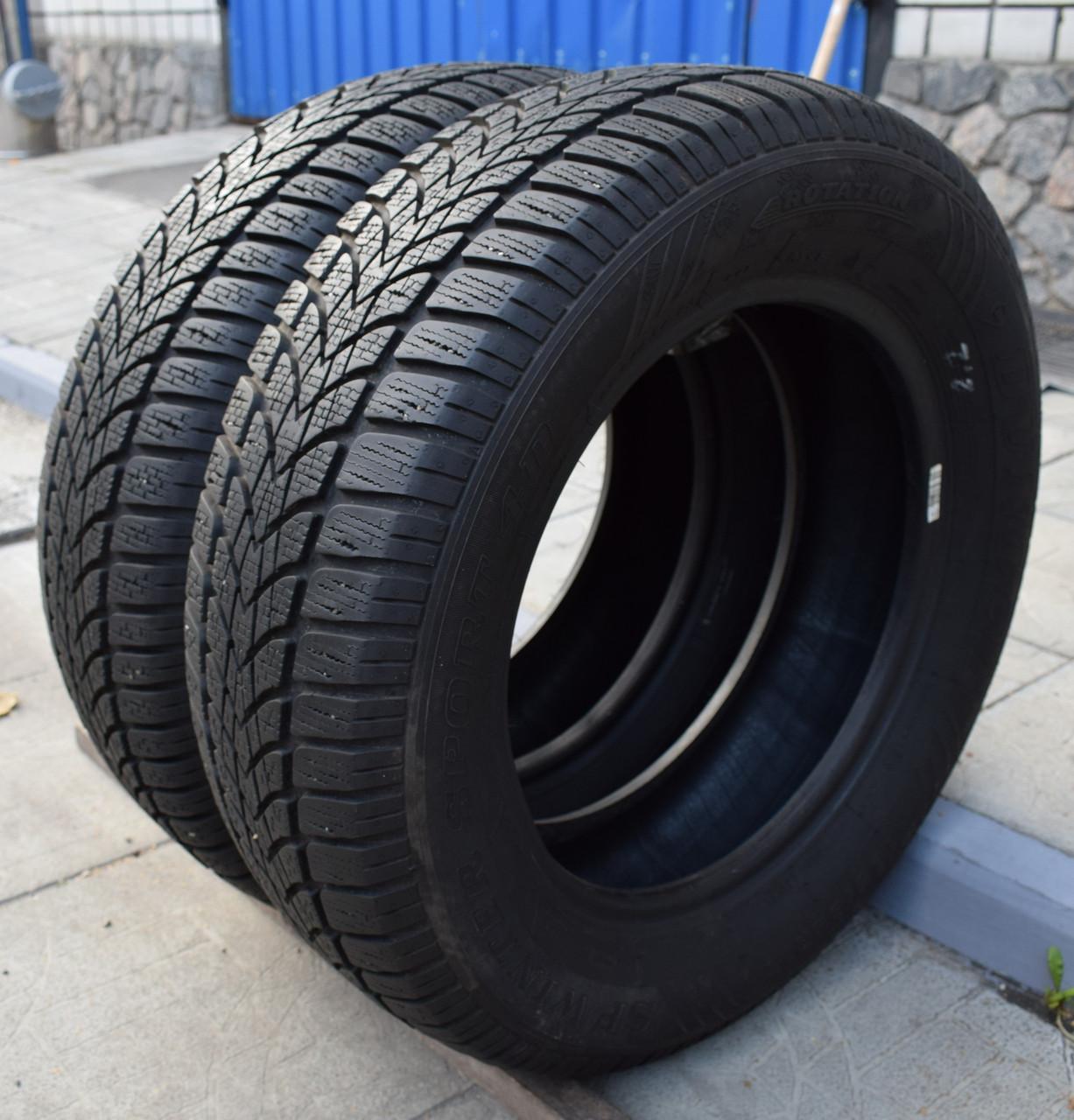 Шины б/у 195/65 R15 Dunlop SP Winter Sport 4D, ЗИМА, 6-7 мм, пара