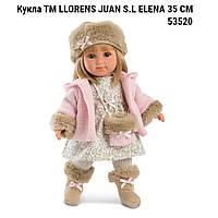 Кукла Llorens 53520  ТМ LLORENS JUAN S.L Елена  производство Испания ELENA 35 СМ