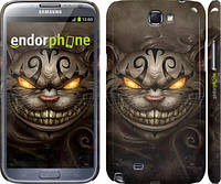 "Чехол на Samsung Galaxy Note 2 N7100 Чеширский кот v2 ""1078c-17"""