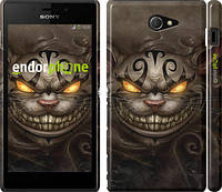 "Чехол на Sony Xperia M2 D2305 Чеширский кот v2 ""1078c-60"""