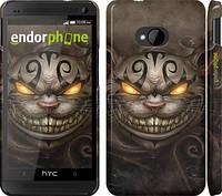 """Чехол на HTC One M7 Чеширский кот v2 """"1078c-36"""""""