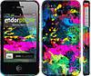 "Чехол на iPhone 4s Кляксы ""2236c-12"""