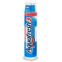 Зубная паста Aquafresh с дозатором 3 Fresh & Minty 100мл (аквафреш фреш)