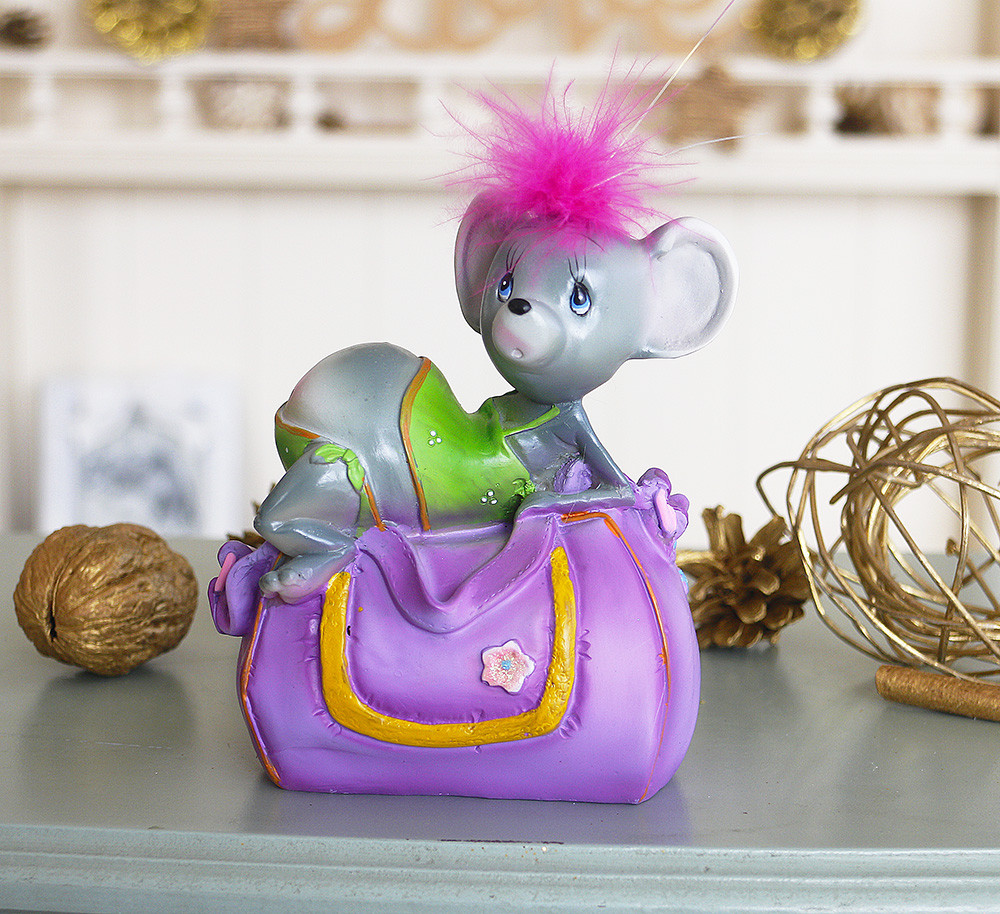 Скарбничка мишка гламур 11*13*8 см 026 A 046-1