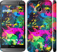 "Чехол на HTC One M8 Кляксы ""2236c-30"""