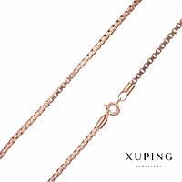 Цепочка Xuping плетение квадрат s-2,3мм L-45см позолота