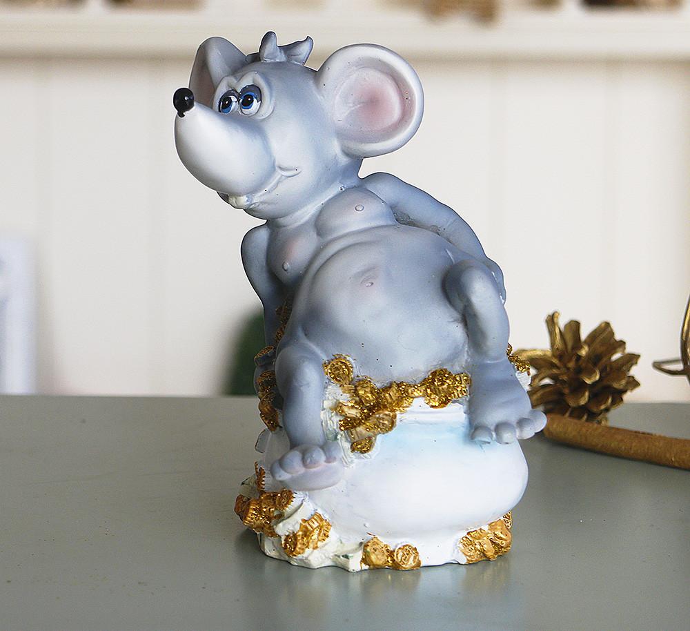 Копилка мышка с деньгами 12*14*9 см Гранд Презент 026 A 022D