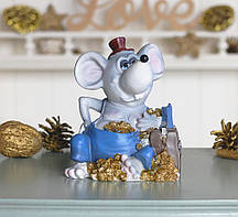 Копилка мышка бизнесмен 11*14*9 см Гранд Презент 026 A 030D